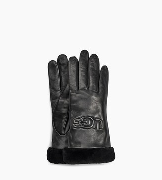 UGG Classic Leather Logo Glove