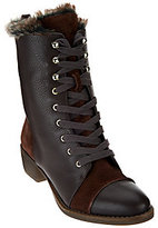 As Is Aimee Kestenberg Leather Lace-Up Faux Fur Boots - Leilani