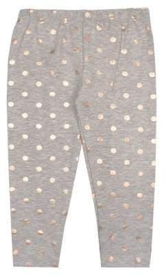 Nannette Little Girl's Regular-Fit Foil Dot Leggings