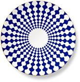 B by Brandie Navy Grande Zelda Charger Plate with Gold Rim