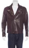 Brunello Cucinelli Leather Asymmetrical Jacket