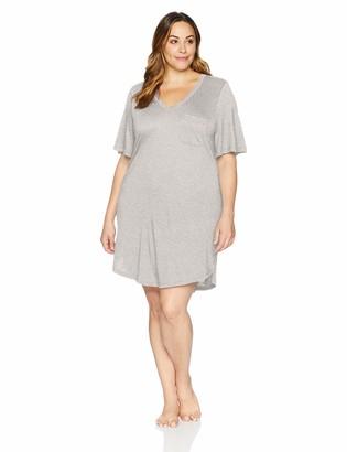 Cosabella Women's Plus Size Bella Extended Short Sleeve Dress