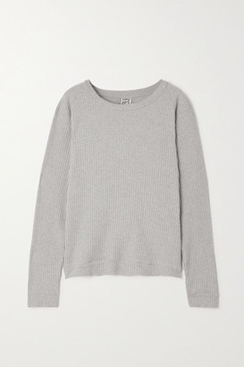 Base Range + Net Sustain Ribbed Organic Cotton Sweater - Gray