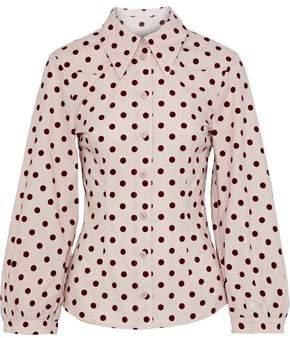 Baum und Pferdgarten Meriel Polka-dot Stretch Cotton-poplin Shirt