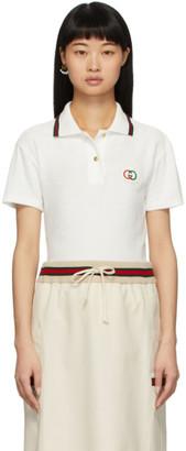 Gucci White Terrycloth Polo