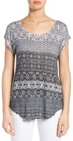 Lucky Brand Women's Ditzy Floral Stripe Tee