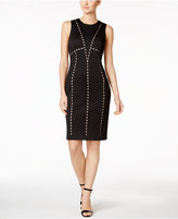 Calvin Klein Laser-Cut Scuba Sheath Dress