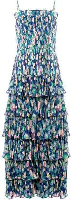 AMUR Viola pleated ruffle dress