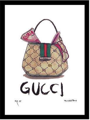 Fairchild Paris Hobo 1 Vintage Gucci Framed Art