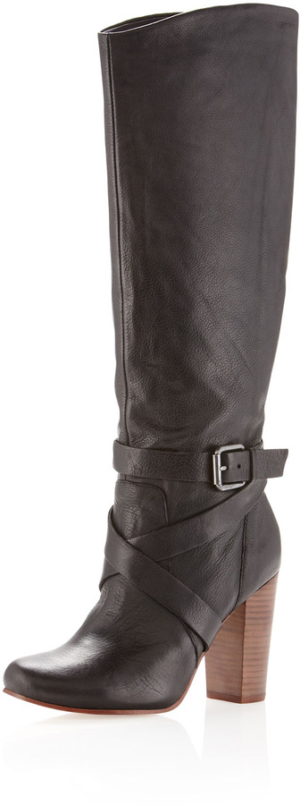 Dolce Vita Walden Ankle-Strap Knee Boot, Black