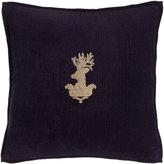 "Ralph Lauren Home Purple Inverness Stag-Head Pillow, 18""Sq."