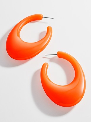 BaubleBar Clasina Resin Hoop Earrings