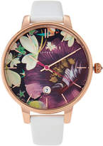 Ted Baker TE50377004 Rose Gold-Tone & White Watch