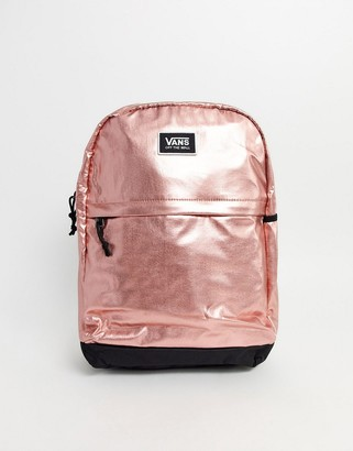 Vans Pep Squad Backpack in rose gold-Pink