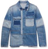 Valentino - Slim-fit Patchwork Distressed Denim Jacket