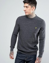 Lyle & Scott Crew Neck Boiled Wool Sweater