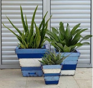 Think Outside Collaroy Planters Set/3 Square