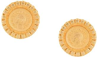 Chanel Pre-Owned 1995 Coco coin round earrings