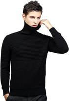 Insun Men's Solid Color Turtleneck Knit Warm Pullover Sweater