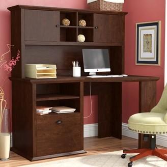 Three Posts Ferrell L-Shape Desk with Hutch