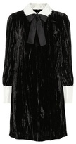 Miu Miu Embellished crushed-velvet dress