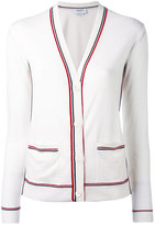 Thom Browne striped V-neck cardigan - women - Wool - 38
