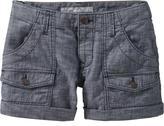 Women's Cuffed Chambray Shorts (4