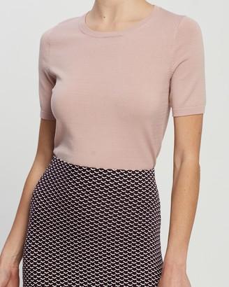 Forcast Bridget Short Sleeve Knit