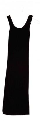 SET Black Cotton - elasthane Dress for Women
