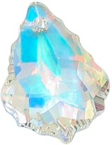 Dreambell 1 pc Swarovski Crystal 6090 Baroque Crystal Ab Pendant 22mm / Findings / Crystallized Element