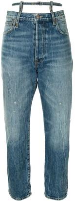 R 13 Ollie straight leg jeans