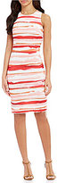 Calvin Klein Sleeveless Printed Scuba Dress