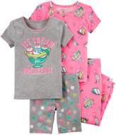 Carter's Girls 4-12 Tops, Shorts & Bottoms Pajama Set