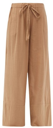 Loup Charmant Olympia Organic-cotton Palazzo Trousers - Camel