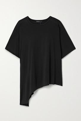 Koral Rastro Asymmetric Modal-blend Jersey T-shirt - Black