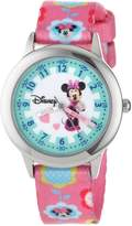 Disney Kids' W000041 Minnie Mouse Stainless Steel Time Teacher Watch