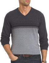 Van Heusen Striped Fashion V-Neck Sweater