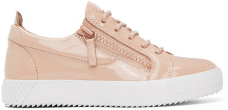 Giuseppe Zanotti Pink Patent July Cantadora Sneakers