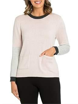 Marc O'Polo Marco Polo Long Sleeve Blocked Sweater