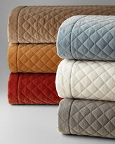 Vince King Elite Quilted Velvet Coverlet