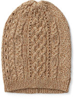 Ralph Lauren Cable-Knit Metallic Hat