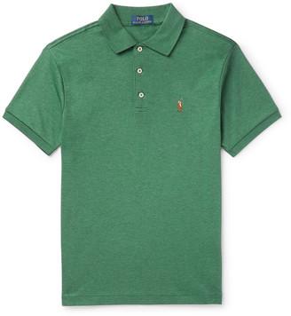 Polo Ralph Lauren Slim-Fit Melange Cotton-Jersey Polo Shirt