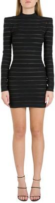 Balmain Logo Stripes Dress