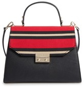 Kate Spade Stewart Street - Samira Textile & Leather Top Handle Satchel - Black
