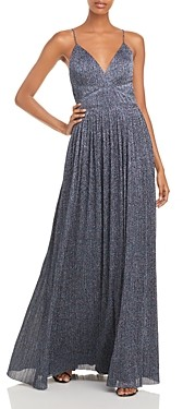 Aidan Mattox Pleated Glitter Gown - 100% Exclusive