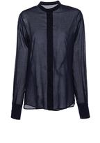 Martin Grant Navy Collarless Button Up Shirt