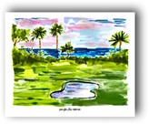 """The Well Appointed House """"Par for the Course"""" Watercolor Art Print"""