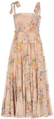 Zimmermann Floral Print Sleeveless Dress