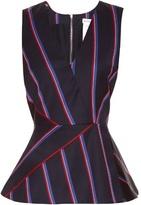 Altuzarra Miles striped wool-blend top
