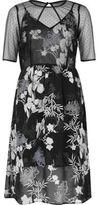 River Island Womens Black floral chiffon midi dress